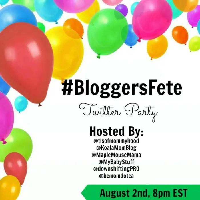 Bloggers Fete Twitter Party RSVP