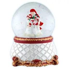 Snowman Santa Water Globe