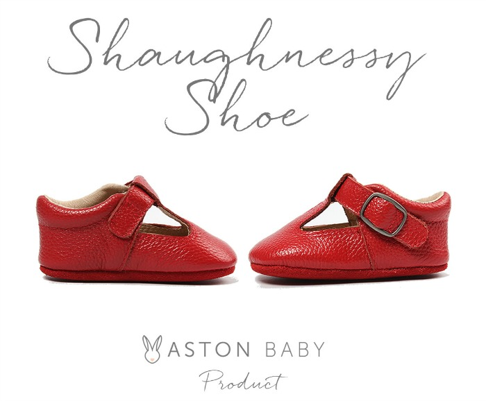 Shaughnessy Shoes - red baby shoes from Aston Baby