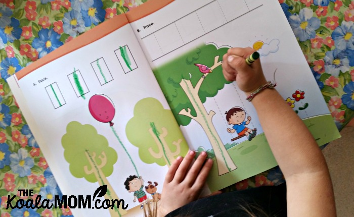 Preschool MathSmart Activities - toddler tracing lines