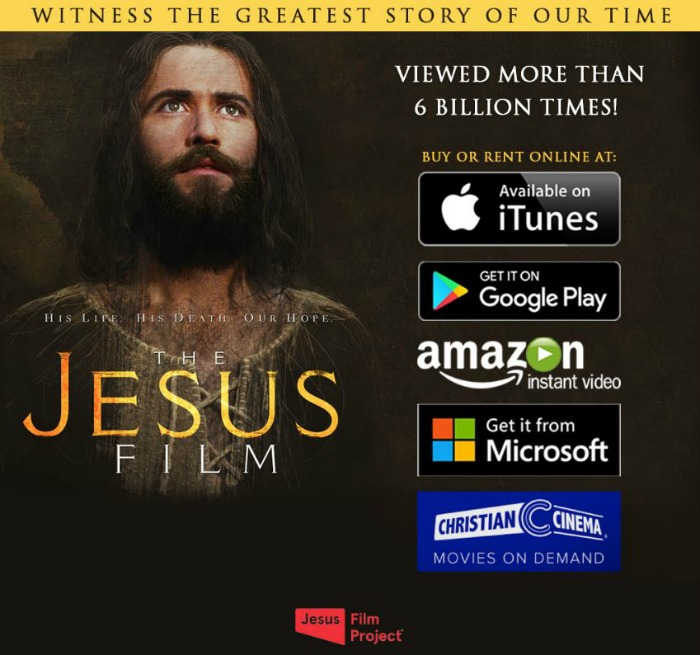 The JESUS Film now available on-demand!