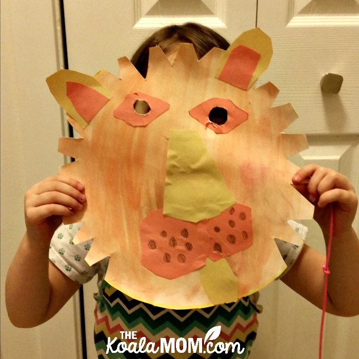 Jade's lion mask, from one of our new craft books from DK Canada