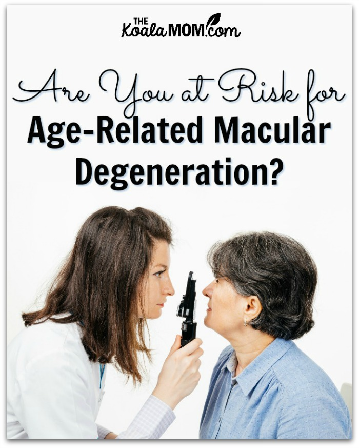 Are you at risk for age-related macular degeneration? (eye doctor checks eyes of elderly patient)