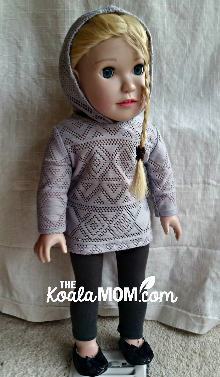 "St. Joan of Arc doll, in her ""casual outfit"""