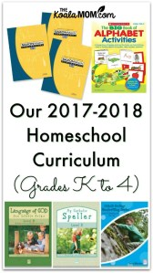 Our 2017-2018 Homeschool Curriculum (Grades K to 4)