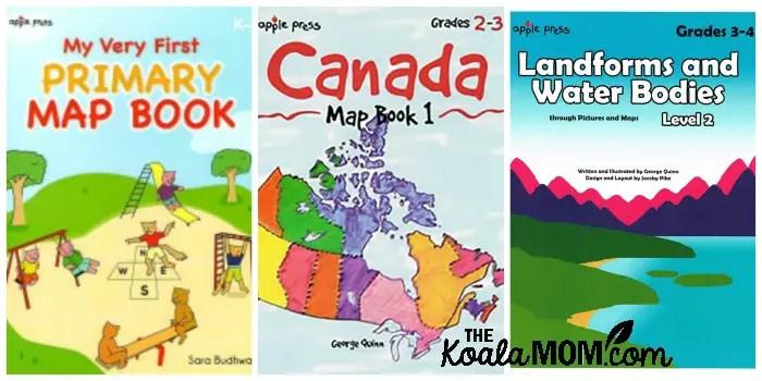 Apple Press map books for elementary grades