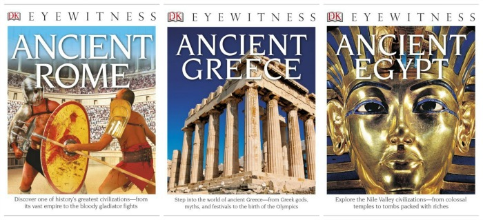 DK Eyewitness Books to Ancient Rome, Ancient Egypt and Ancient Greece are great historical resources
