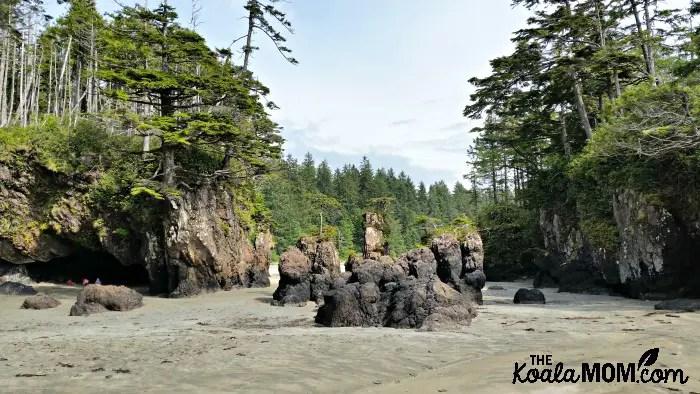 The pinnacles of rock at San Josef Bay