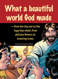 The Action Storybook Bible draws kids into God's Word!