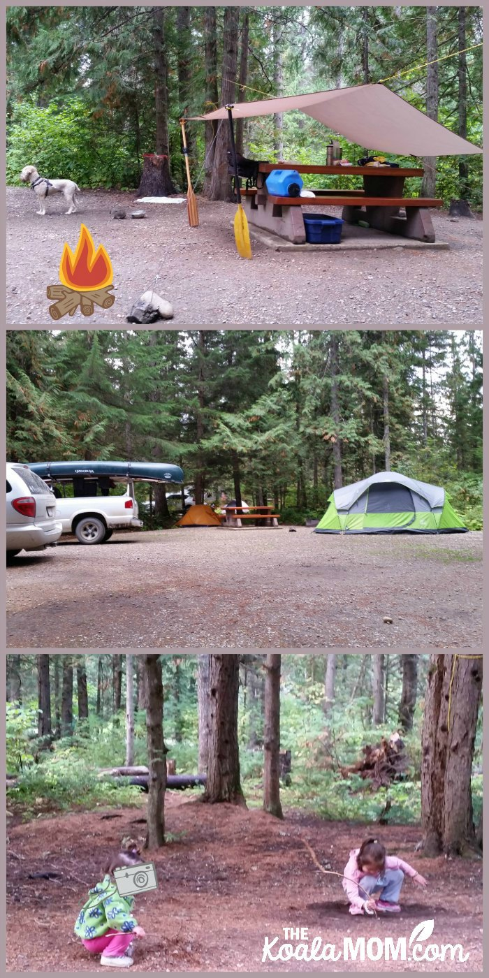 Clearwater Campground in Wells Grey Provincial Park