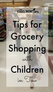 Tips for Grocery Shopping with Children in Tow