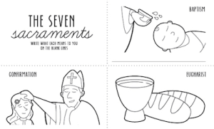 FREE Seven Sacraments Colouring Pages for Kids!