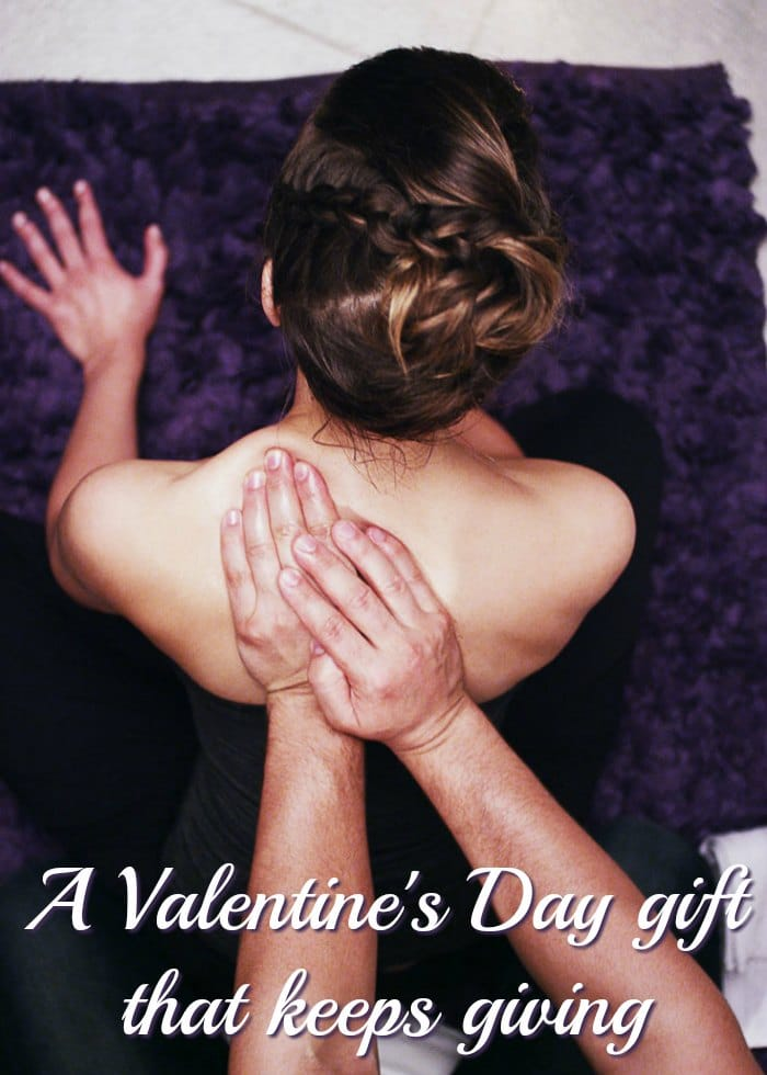 A Valentine's Day gift that keeps giving (man massaging his wife)