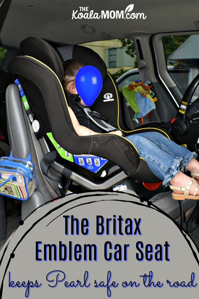 The Britax Emblem Convertible Car Seat keeps Pearl safe on the road.