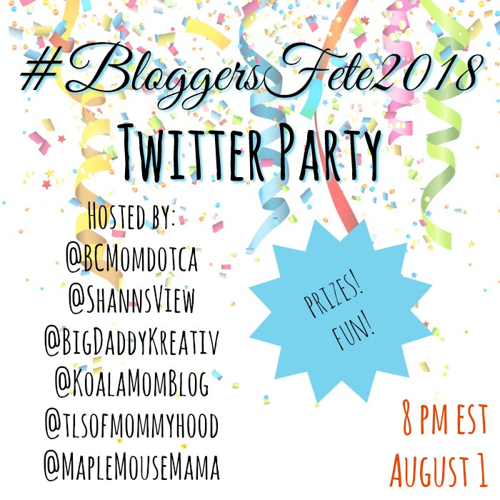 BloggersFete 2018 Twitter Party RSVP