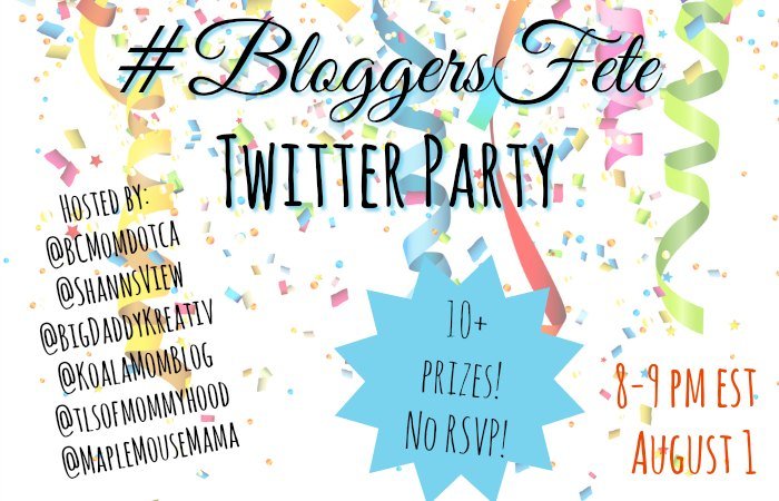 Canadian twitter parties giveaways