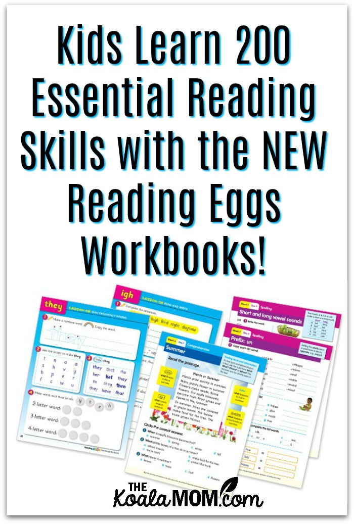 Kids learn 200 essential reading skills with the NEW Reading Eggs Workbooks.