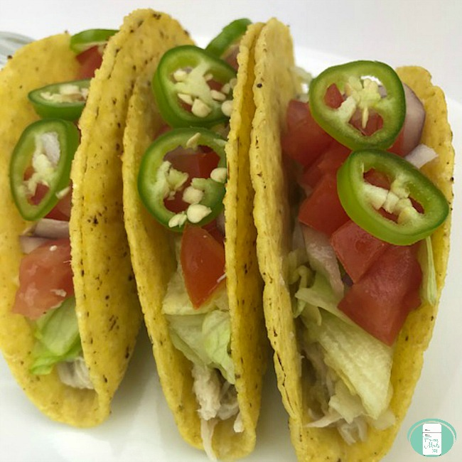 Slow Cooker Salsa Verda Chicken Tacos