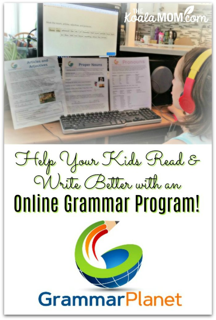 Help your kids read and write better with an online grammar program!