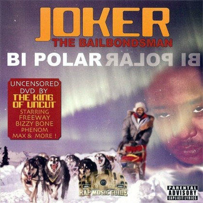 worst hip-hop album covers Joker The Bailbondsman - Bi Polar