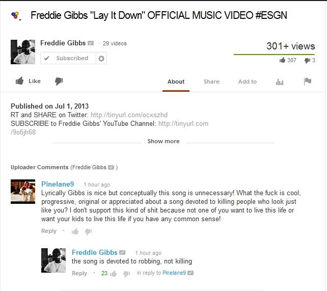 Freddie Gibbs response