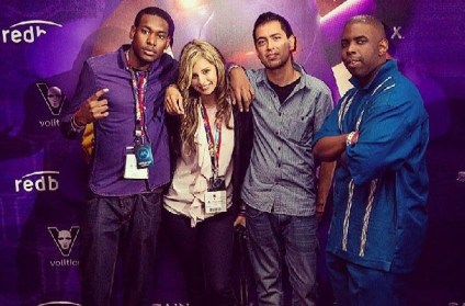 Gary, Jennie, Ed and Rich repping the TK mesh out at E3 2013.