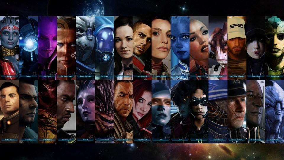 Mass Effect Squad Members