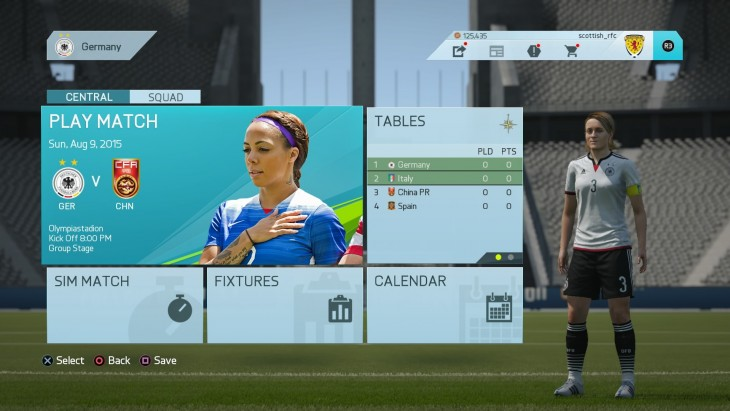 FIFA 16 a Tournament (In Menus)