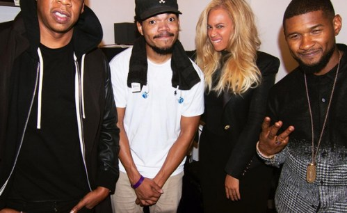 chance the rapper instagram with Jay-Z, Usher and Beyonce