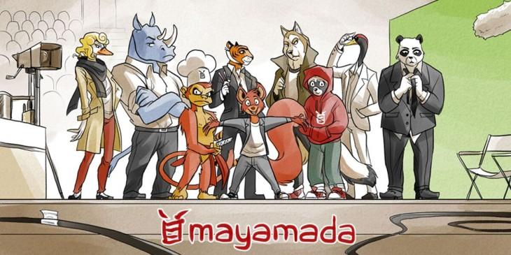 Mayamada's cast of manga characters