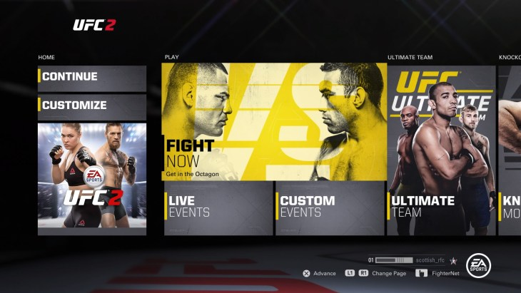 In terms of game modes, EA Sports UFC 2 is quite bare bones.