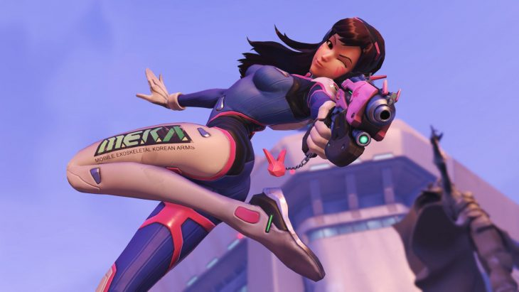 DVa is one of the beautiful hero models in Overwatch