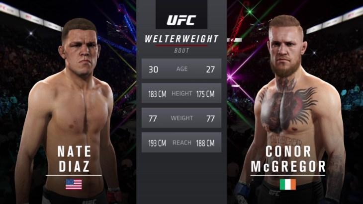 UFC 202: Diaz vs. McGregor - Welterweight Match - CPU Prediction