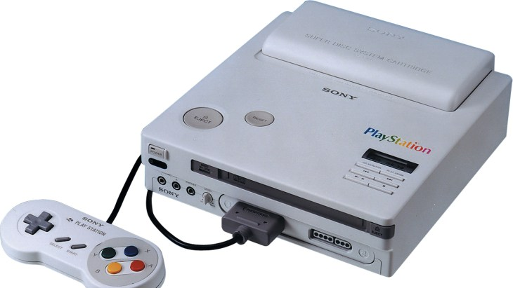 "Prototype for the Sony ""Play Station"" - The Super NES CD Console"