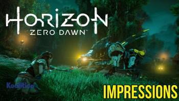 Horizon Zero Dawn impressions