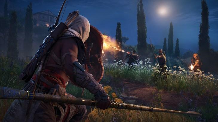 Assassin's Creed Origins screenshot in the dark
