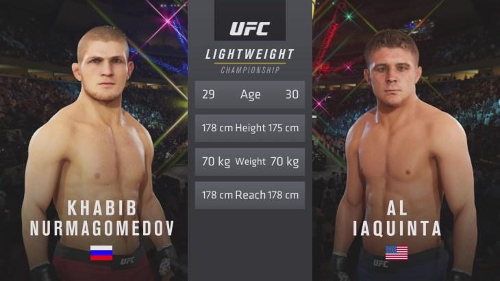 UFC 223: Nurmagomedov vs. Iaquinta – Lightweight Title Match - CPU Prediction