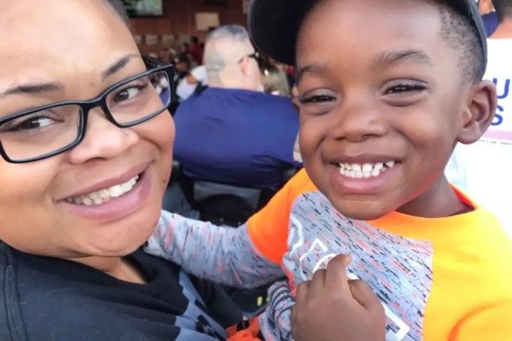 Atatiana Jefferson and her nephew Zion