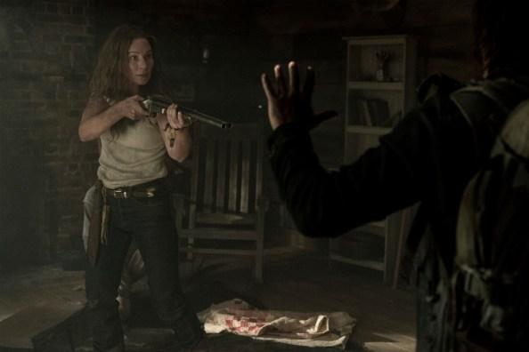 Lynn Collins as Leah, Norman Reedus as Daryl Dixon - The Walking Dead _ Season 10 - Photo Credit: Eli Ade/AMC