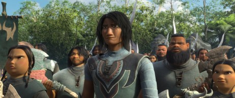 """The people of Spine in Kumandra are fierce warriors who thrive in the snowy mountains of the kingdom. Led by their chief, voiced by Ross Butler. Walt Disney Animation Studios' """"Raya and the Last Dragon"""" will be in theaters and on Disney+ with Premier Access on March 5, 2021. © 2021 Disney. All Rights Reserved."""