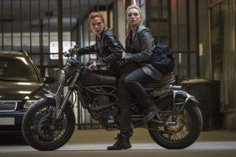 Scarlett Johansson as Natasha Romanoff and Florence Pugh as Yelena