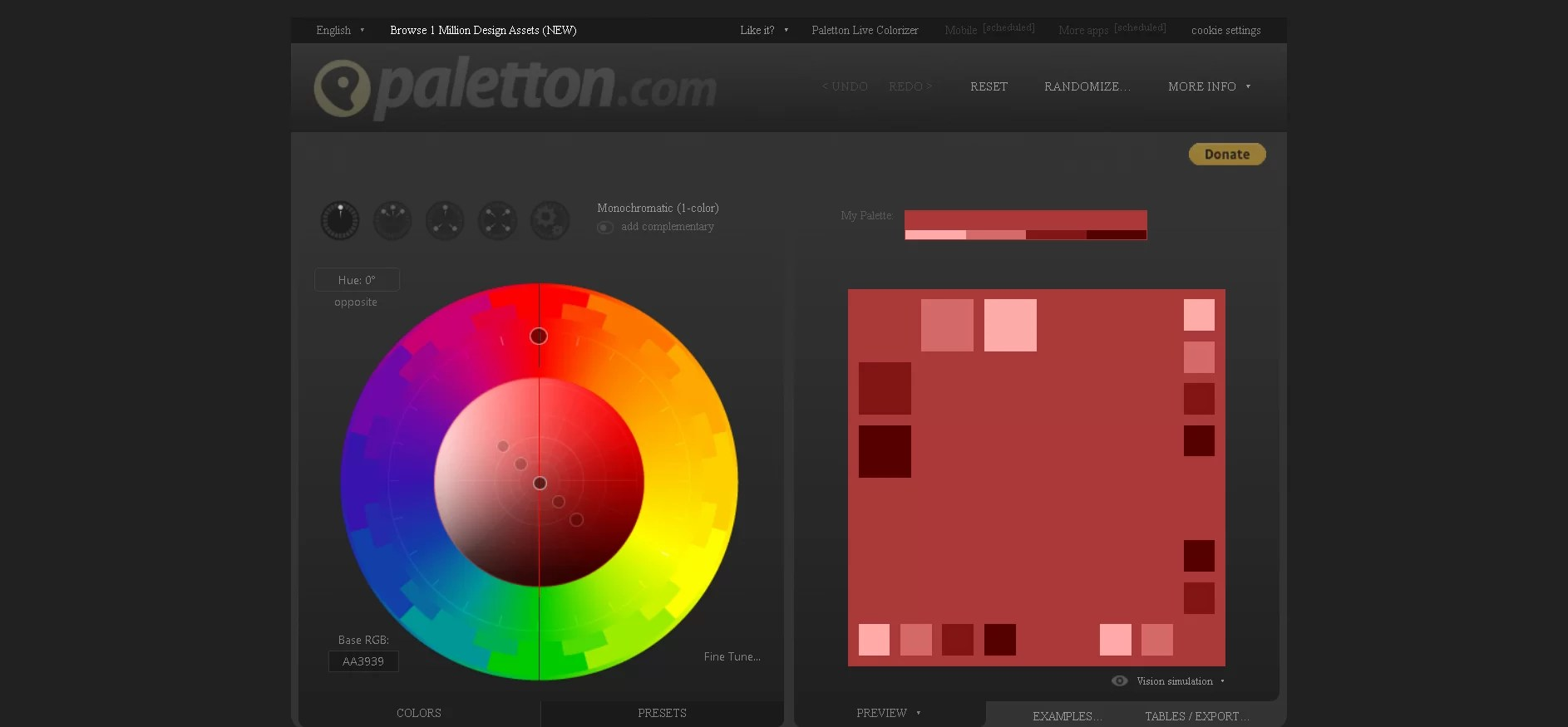 Looking for a Simple Color Palette Generator websites 2021