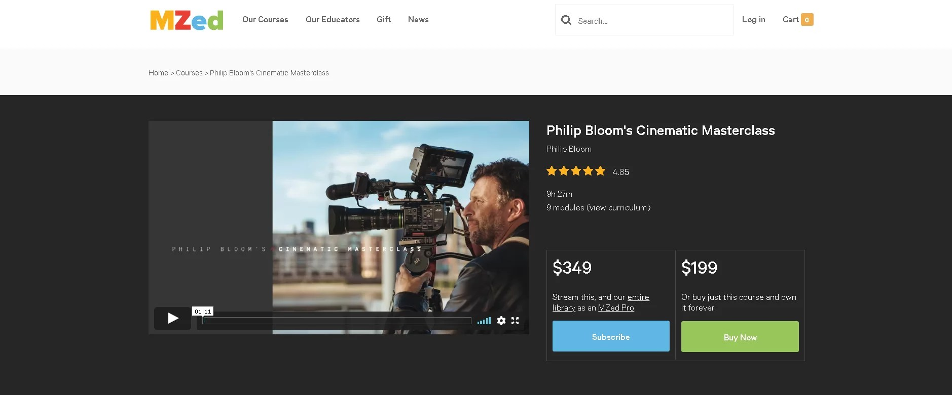 A complete Online Filmmaking Course for beginners that's only $99!