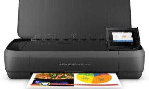 HP OfficeJet 250 All-in-One Portable Printer with Wireless & Mobile Printing, Works with Alexa (CZ992A)