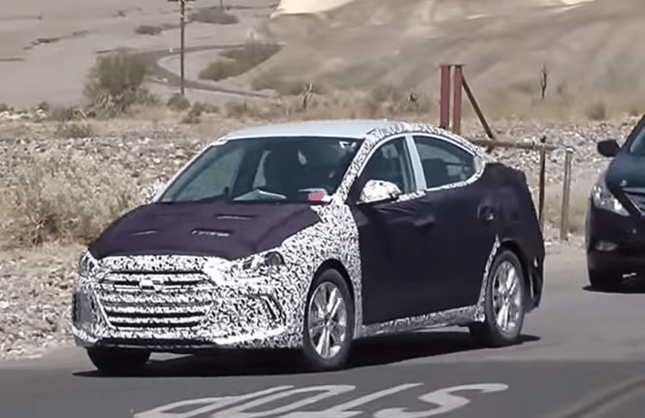 Scooped 2016 Hyundai Elantra Caught During Hot Weather