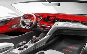 Hyundai Veloster interior rendered