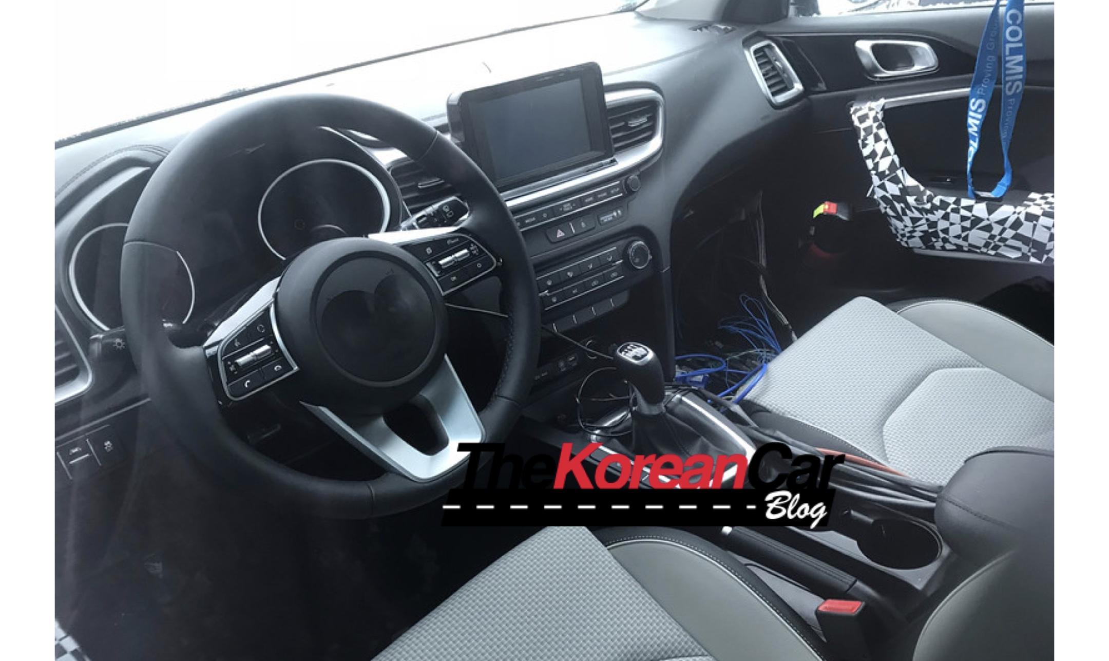 2018 kia cee d interior caught undisguised the korean car blog. Black Bedroom Furniture Sets. Home Design Ideas