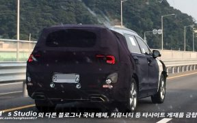 mysterious hyundai suv spied could be santa fe xl