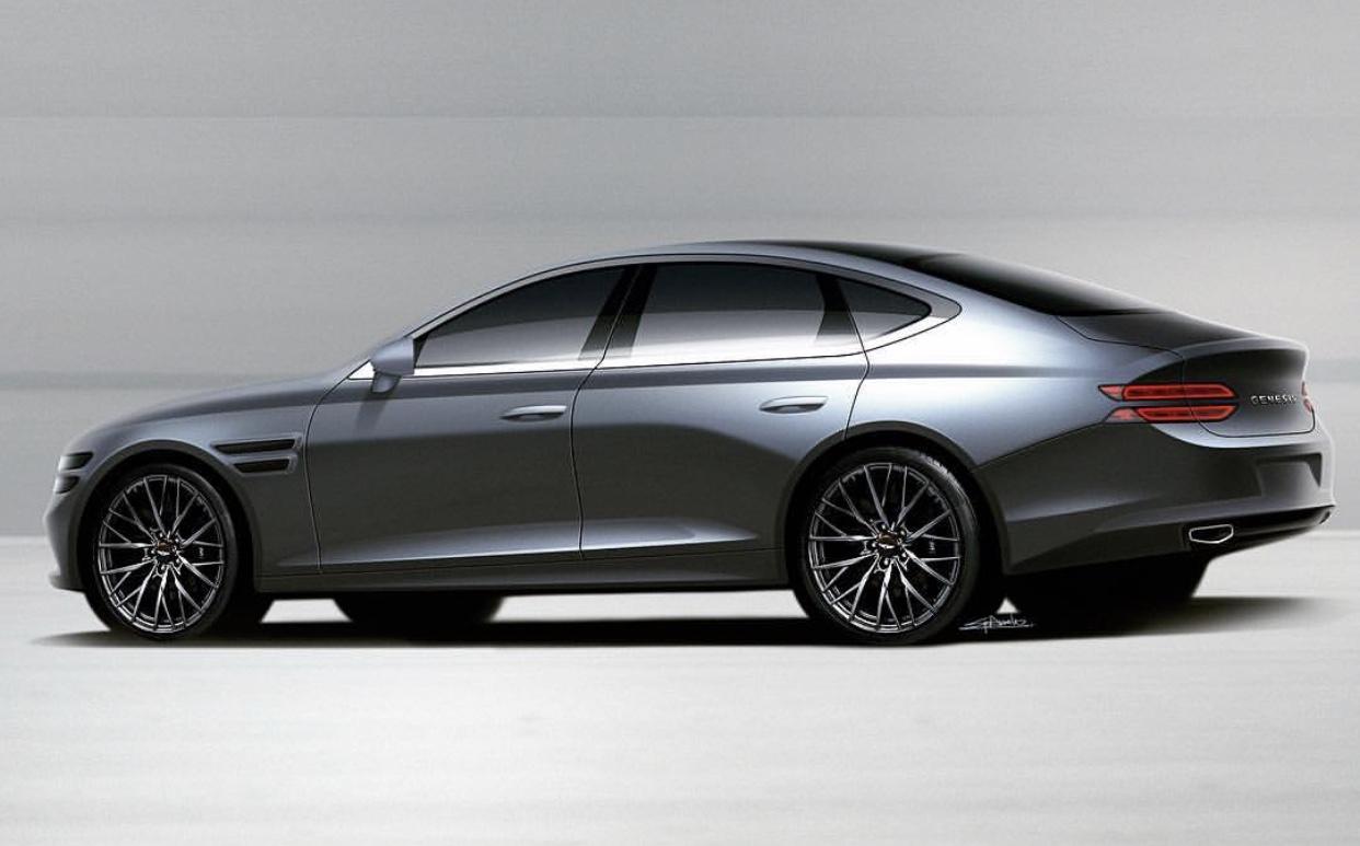 2020 genesis g80 render korean car blog rh thekoreancarblog com