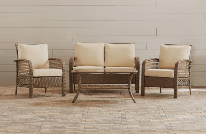 Patio Furniture  Up to 60  Off   10  Off Code at Wayfair    The     Buy 1 Niceville 4 Piece Deep Seating Group with Cushion by Beachcrest Home    reg 899 00    515 00  sale price through 4 21